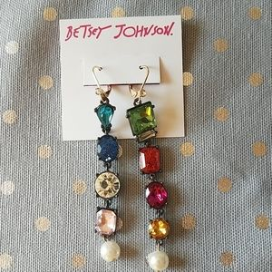 Authentic Betsey Johnson Earrings New/tag